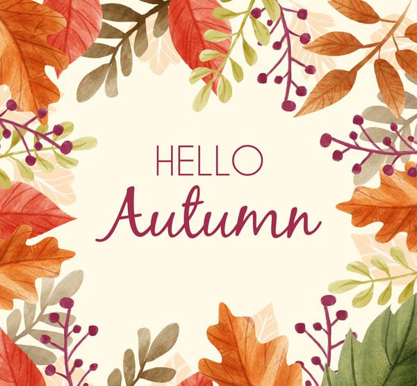 Autumn leaves frame Vector AI