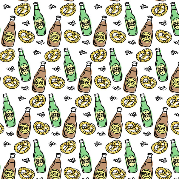 Background of beer and bread vector