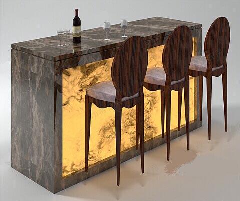 Bar Table 3D Model 01