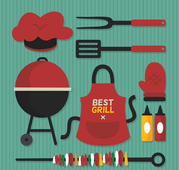 Barbecue supplies Vector AI