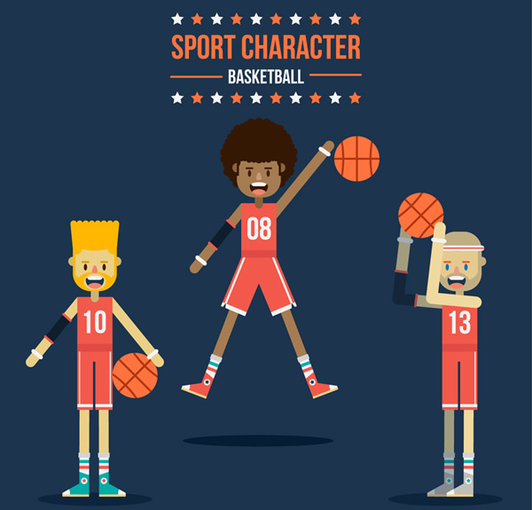 Basketball players Vector AI