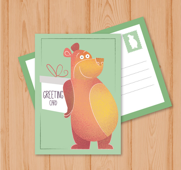 Bears and gift cards Vector AI