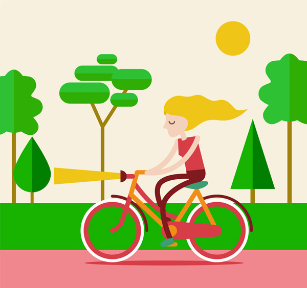 Bike blonde Vector AI