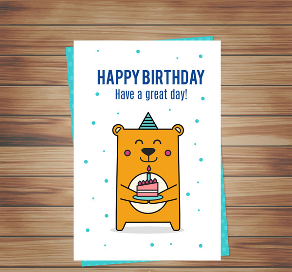Happy Birthday Card Vector AI