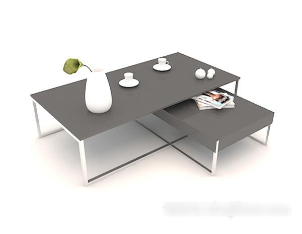 Black Coffee Table 3D Model