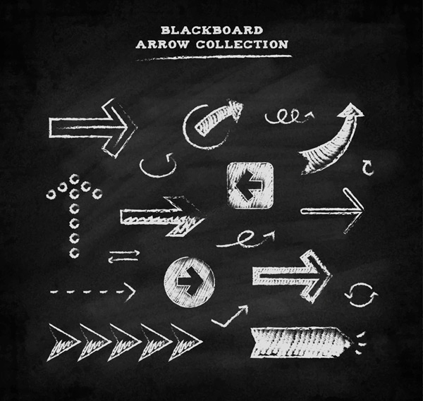 Blackboard arrow Vector AI