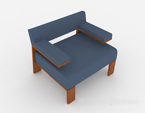 Blue Sofa 3D Models