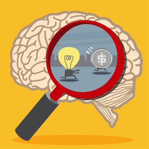 Brain illustration Vector AI