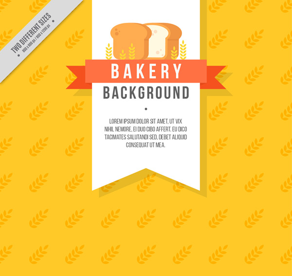 Bread baking element background Vector AI