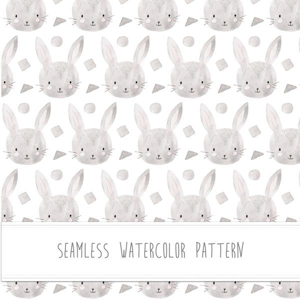Bunny avatar seamless background Vector AI