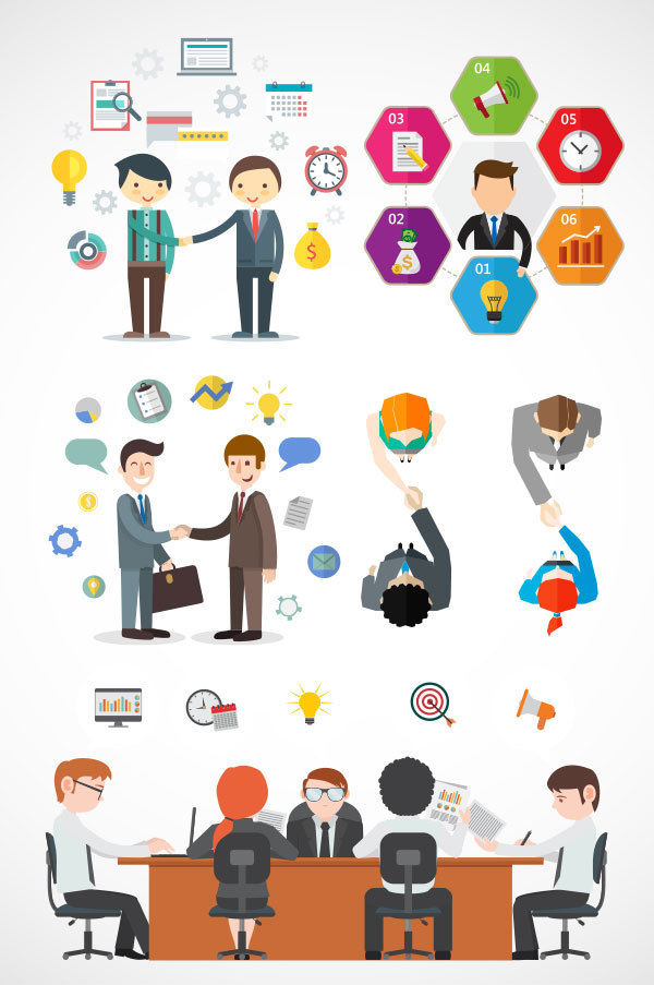 Business communication Vector AI