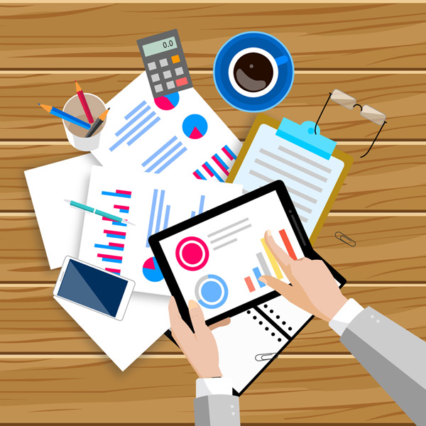 Business Desk Vector EPS
