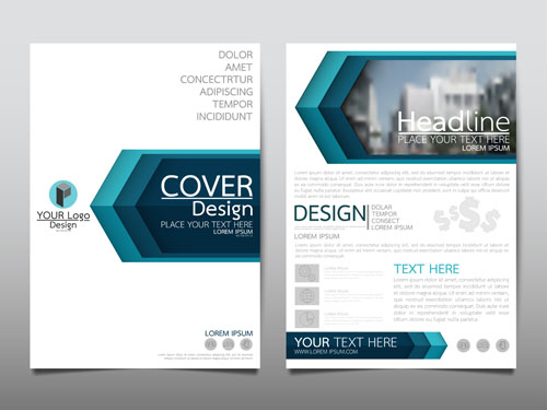 Business flyer layout Vector EPS 01