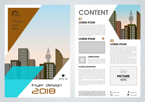 Business flyer layout Vector EPS 04