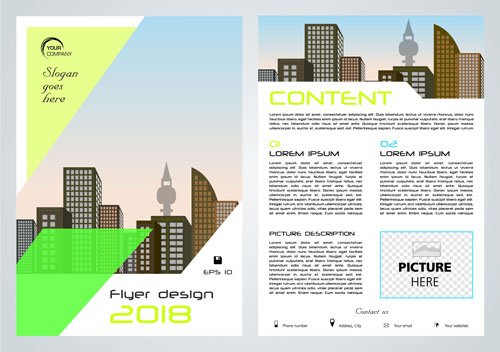 Business flyer layout Vector EPS 05