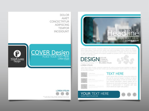 Business flyer layout Vector EPS 06