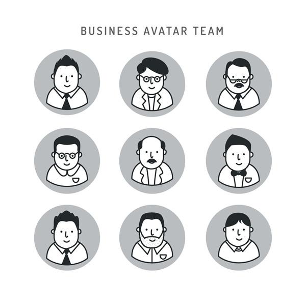 Business man portrait Vector AI
