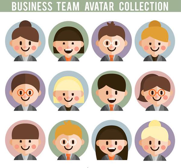 Business team player portrait Vector AI 01
