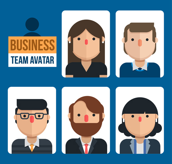 Business team player portrait Vector AI