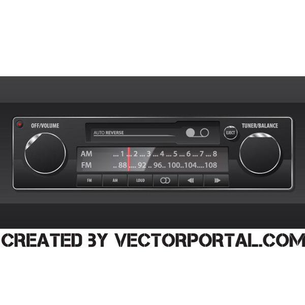 Car audio systems Vector EPS