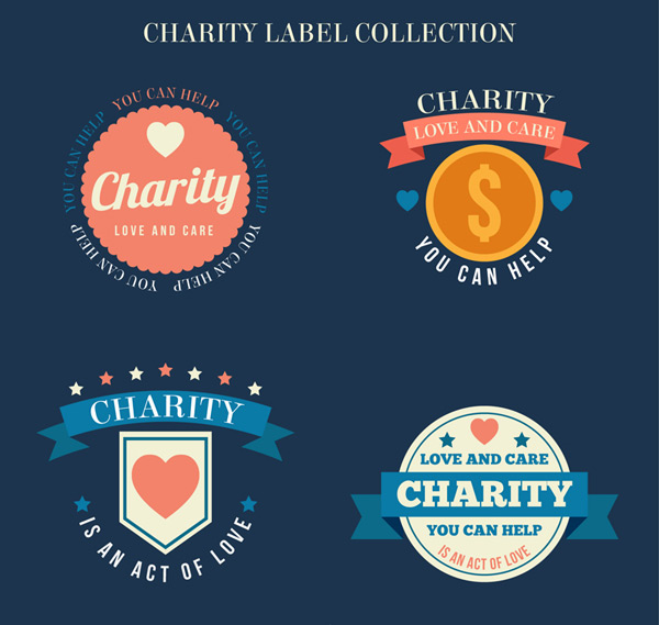 Charity labels Vector AI 01