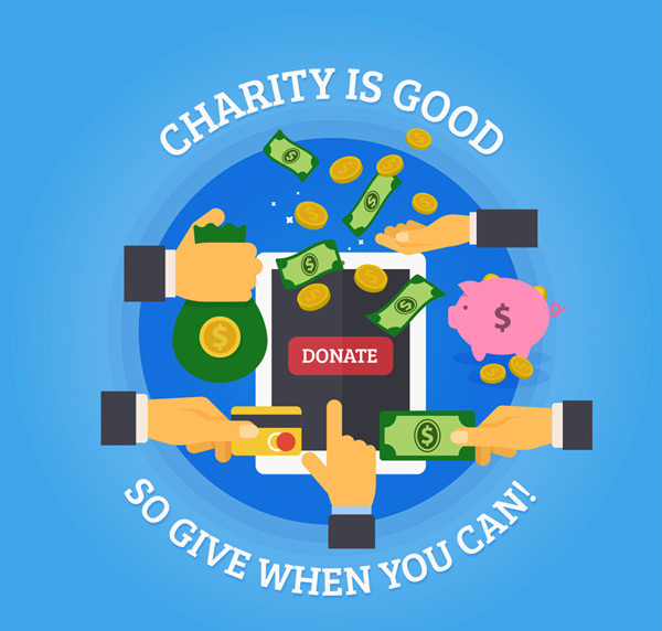 Charity poster Vector AI