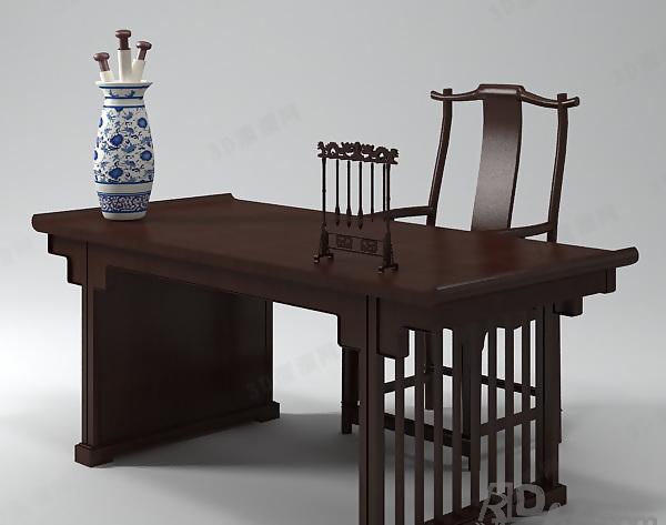 Chinese Desk 3D Model 01