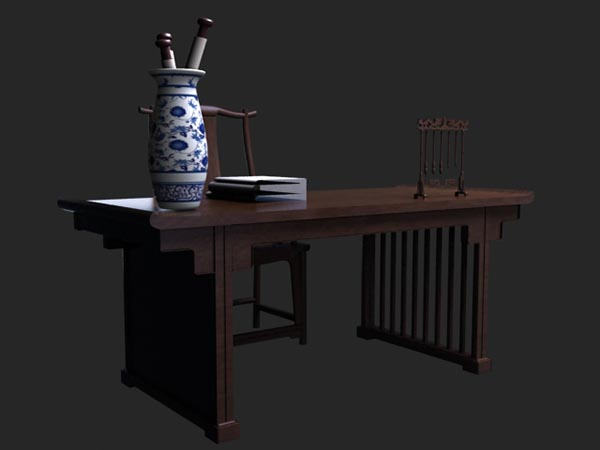Chinese Desk 3D Model