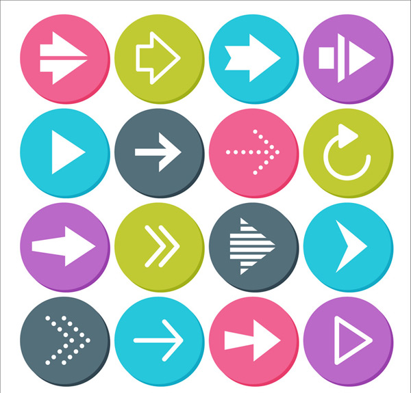 Circular arrow icon Vector AI