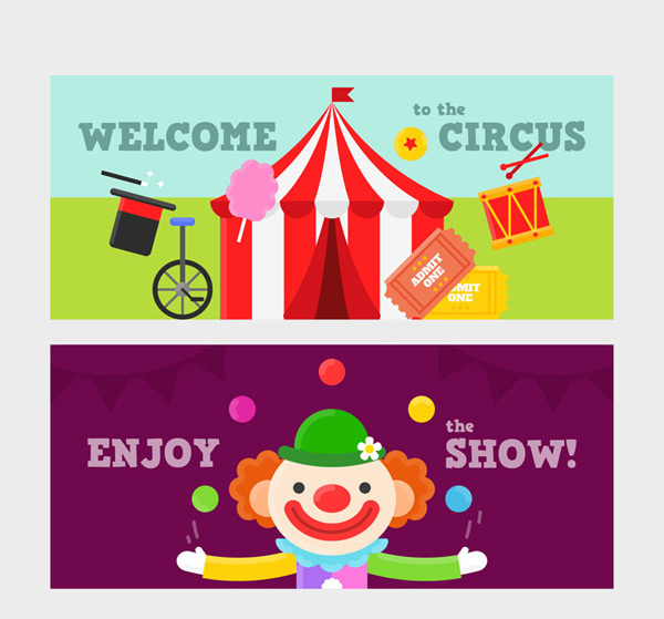 Circus banner Vector AI