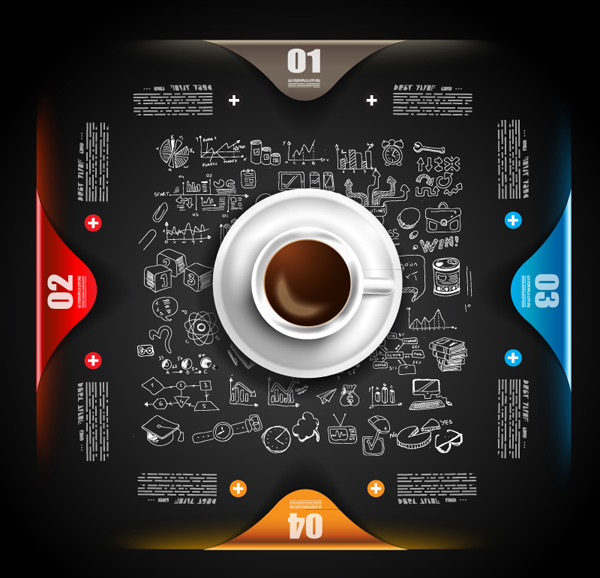 Coffee business information Vector EPS