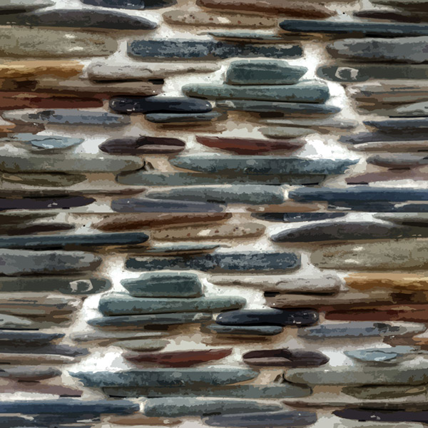 Color stone wall background Vector AI