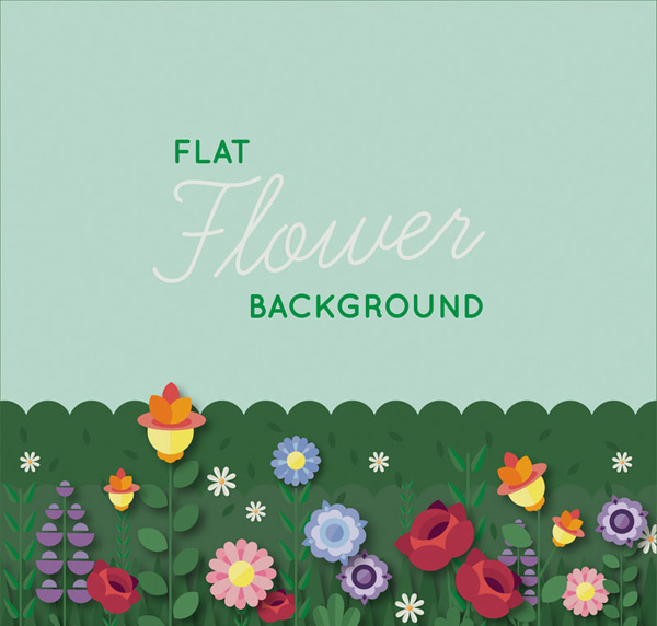 Colorful garden flowers vector