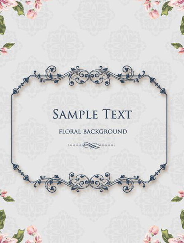 Continental floral lace border Vector EPS