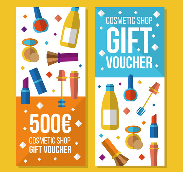 Cosmetic gift certificates Vector AI