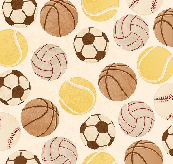 Creative ball seamless background Vector AI