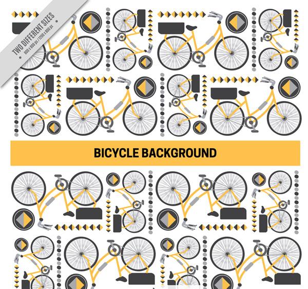 Creative bike seamless background vector