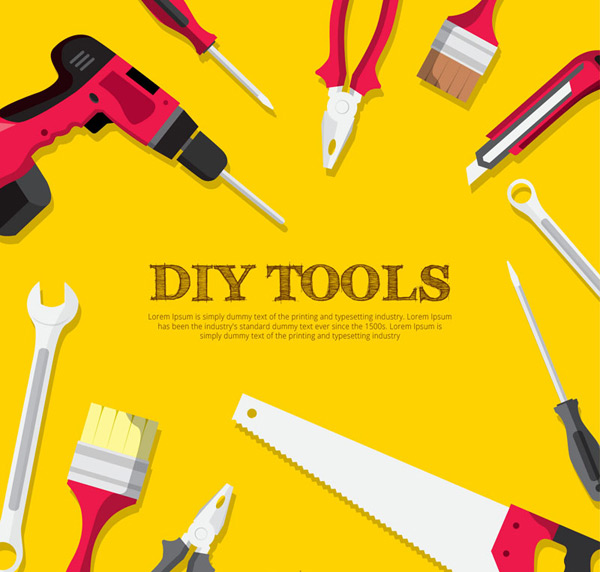 Creative DIY tools Vector AI