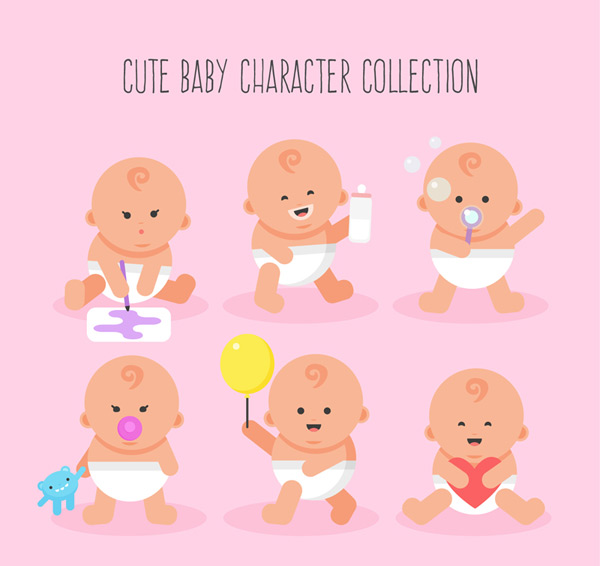 Cute baby design Vector AI