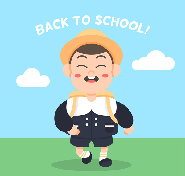 Cute back to school boy Vector AI