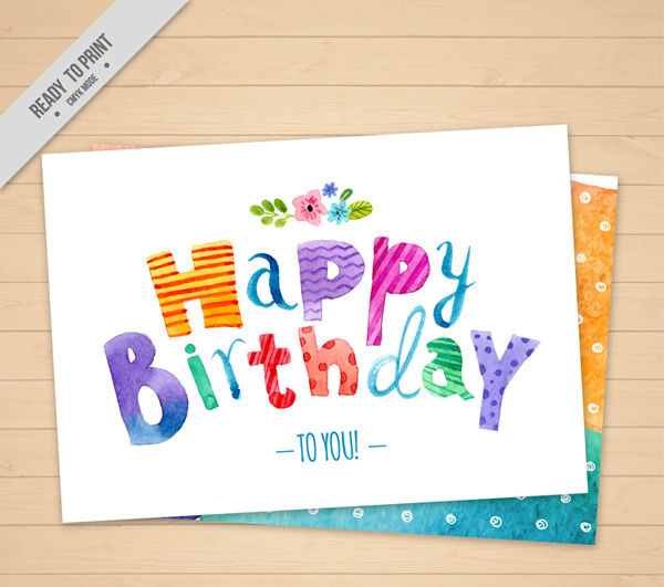 Cute birthday greeting cards Vector AI