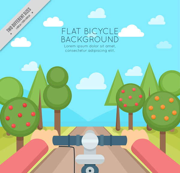 Cycling angle view Vector AI