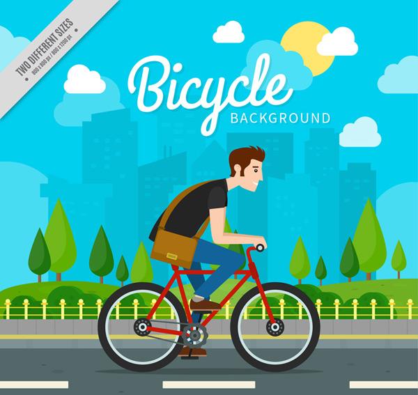 Cycling city man Vector AI