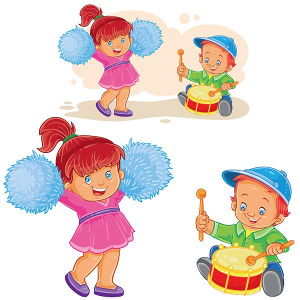 Dancing drums for children Vector EPS