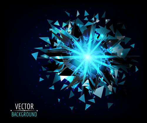 Debris and Yao look effect Vector EPS 02