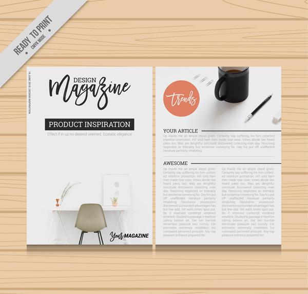 Design magazine pages Vector AI