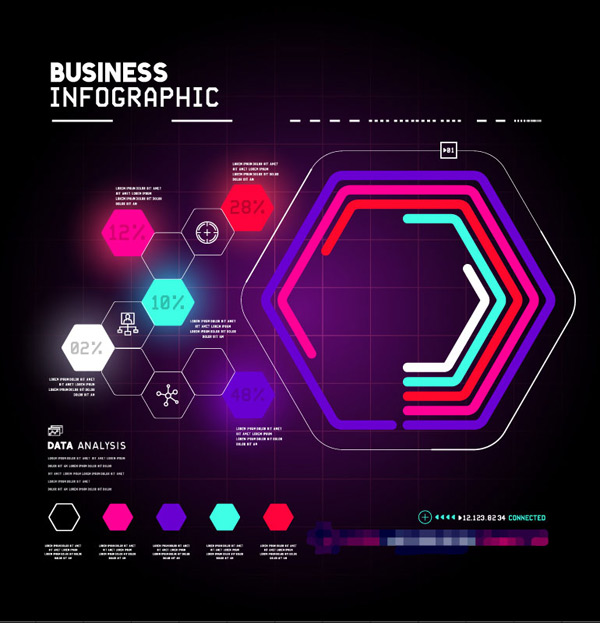 Diamond business information Vector EPS