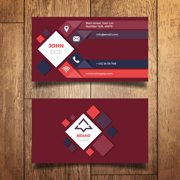 Diamond decorative business card Vector AI