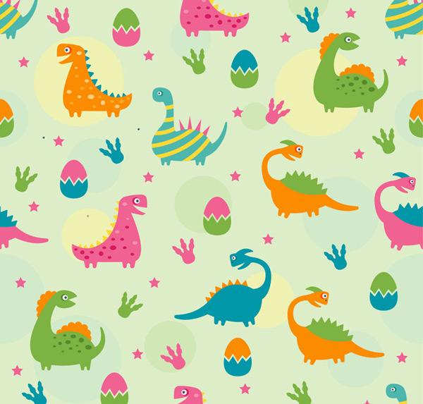 Dinosaur eggs dinosaur background Vector AI