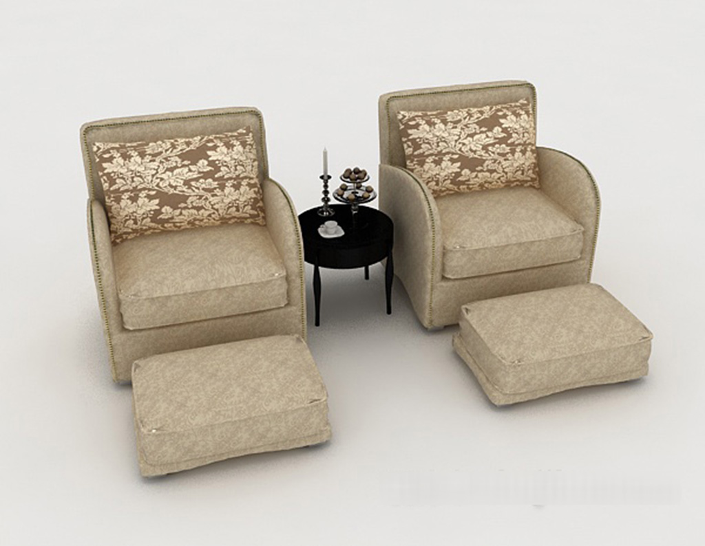 Double Sofa 3D Models